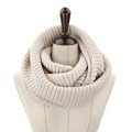 Fashion Unisex Winter knitting Wool Collar Neck Warmer woman Ring Scarf Shawl - Beige