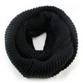 Fashion Unisex Winter knitting Wool Collar Neck Warmer woman Ring Scarf Shawl - Black
