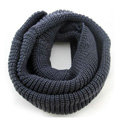 Fashion Unisex Winter knitting Wool Collar Neck Warmer woman Ring Scarf Shawl - Dark grey