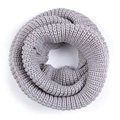 Fashion Unisex Winter knitting Wool Collar Neck Warmer woman Ring Scarf Shawl - Grey