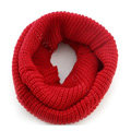 Fashion Unisex Winter knitting Wool Collar Neck Warmer woman Ring Scarf Shawl - Red