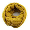 Fashion Unisex Winter knitting Wool Collar Neck Warmer woman Ring Scarf Shawl - Yellow