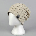 Fashion autumn winter wool hat women or man warm casual knitted caps - Beige