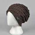 Fashion autumn winter wool hat women or man warm casual knitted caps - Coffee