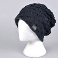 Fashion autumn winter wool hat women or man warm casual knitted caps - Dark Blue