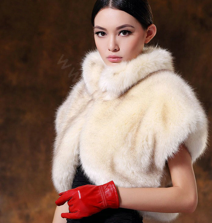 Buy Wholesale White Mink short design fur shawl Women fur vest