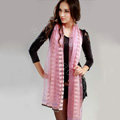 Fashion organza long scarf shawl women warm silk diamond wrap scarves - Pink