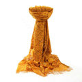 High-end Fashion long flower scarf shawl women warm lace mink wrap scarves - Yellow