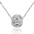 925 sterling silver solid ball bead pendant necklace ingot chain 18 inch 45cm
