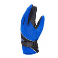 Allfond men winter thermal outdoor sport cold-proof ski motorcycle riding velvet leather Gloves - Blue