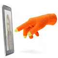 Allfond women touch screen gloves stretch winter warm unisex cashmere gloves - Orange