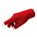 Allfond women touch screen gloves stretch winter warm unisex cashmere gloves - Red