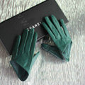Fashion Women Genuine Leather Sheepskin Half Palm Short Gloves Size S - Green