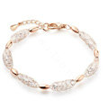 18k Rose Gold Plated Bracelets Bangles for Women gold wire Zircon Crystal Luxury Jewelry