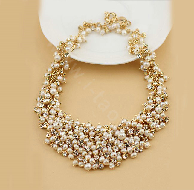 Buy Wholesale Luxury Women Choker Natural Pearl Crystal ...