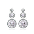 Hotsale White Gold Plated AAA Zircon Rhinestone Drop Stud Earrings Fashion for Women Banquet