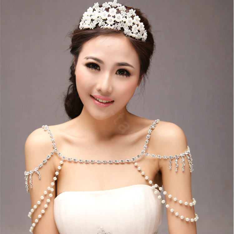 Buy Wholesale Unique Luxury Crystal Pearl Wedding Bridal Shoulder