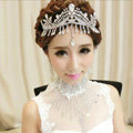 Luxury Classic Bride Tassel Rhinestone Crystal Bridal Large Hair Crowns Tiaras Wedding Accessories
