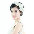 Pretty Bride Jewelry Lace Flower Pearl Crystal Bridal Hair Band Hoop Wedding Accessories