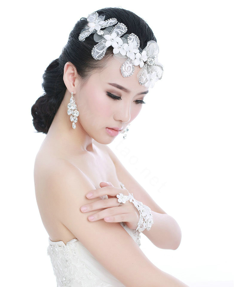 Unique Bridal Headpieces: Buy Wholesale Unique Bride Jewelry Lace Flower Crystal