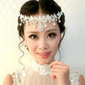 Discount Rhinestone Pearl Lace Flower Hairwear Wedding Bride Headband Bridal Hair Accessories