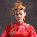 Elegant Bride Chinese style Costume Tassel Phoenix Coronet Cheongsam Wedding jewelry Bridal Hair Accessories