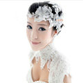 Elegant Rhinestone Lace Flower Hairwear Wedding Bride Headband Bridal Hair Accessories
