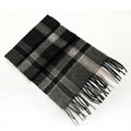 Fashion England Lattice Long Wool Scarf Man Winter Thicken Cashmere Tassels Muffler - Black+White