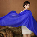 High Quality Solid Color Wool Scarf Shawls Women Winter Long Warm Pashmina Cape - Sapphire blue