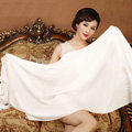 High Quality Solid Color Wool Scarf Shawls Women Winter Long Warm Pashmina Cape - White