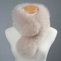 Luxury Fox Fur Scarf Women Winter Warm Neck Wrap Short Fox Fur Collar Clip - Cinnamon