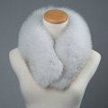 Luxury Fox Fur Scarf Women Winter Warm Neck Wrap Short Fox Fur Collar Clip - Gray