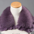 Luxury Short Fox Fur Scarf Women Winter Warm Neck Wrap Rex Rabbit Fur Collar - Light Purple