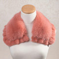 Luxury Short Fox Fur Scarf Women Winter Warm Neck Wrap Rex Rabbit Fur Collar - Pink