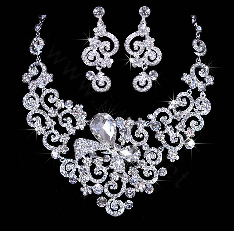 Buy Wholesale Beautiful Wedding Jewelry Sets for Bridal Crystal