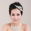 Beautiful Wedding Jewelry Sets for Bridal Crystal Butterfly Tiara & Earrings & Rhinestone Necklace