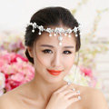 Classic Wedding Jewelry Flower Crystal Pearl Tiaras Bridal Rhinestone Crown Hair hoop Accessories