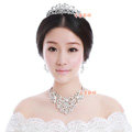 Elegant Wedding Jewelry Sets for Bridal Crystal Butterfly Tiara & Earrings & Rhinestone Necklace