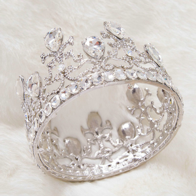 Buy Wholesale Luxury Wedding Jewelry Crystal Large Domain Tiaras