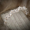 Luxury Wedding Jewelry Pearl Crystal Beads Hairwear Bridal Rhinestone Headband Hair Hoop Accessories