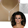 Crystal Tennis Drop 14-17 Silver Bridal Bridesmaid Jewelry Sets Rhinestone Necklace Earrings