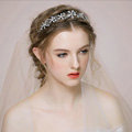 Elegant Bridal Wedding Hair Hoop Alloy Flower Rhinestone Crystal Bride Headband Hair Accessories