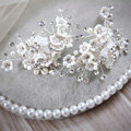 Elegant Wedding Hair Clip Jewelry By hand Pearl Crystal Flower Bridal Hair Pin Accessories