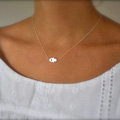 Fashion Women Simple Retro Silver Metal Hands of Fatima Gold-plated Necklace Clavicle Chain