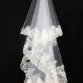 Luxury Cathedral 300cm Long Handmade Lace Flower Sequins Bridal Wedding Veil Bride Deco