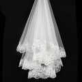 Luxury Cathedral Long Handmade Lace Flower Rhinestone Bridal Wedding Veil Bride Deco