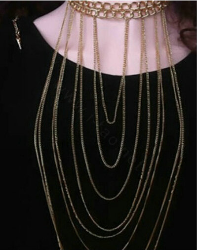 Buy Wholesale Personality Alloy Gold Plated Body Chain Layering ...