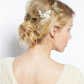Retro Cute Woman Gold Plated Princess Alloy Butterfly Edge Side Clip Hair pin Accessories 4 piece