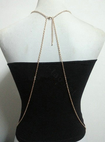 Buy Wholesale Simple Alloy Gold Plated Body Chain Layering ...