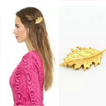 Simple Retro Woman Gold Plated Alloy Maple leaves Edge Side Clip Hair pin Accessories